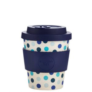 Bambusový hrnek Ecoffee Blue Polka 240ml