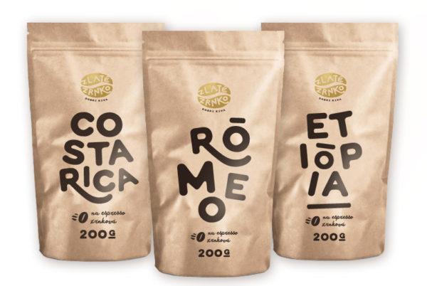 Káva Zlaté Zrnko - Spoznaj na moku 600g (Rómeo, Costa Rica, Etiópia)