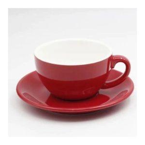 Šálek na cappuccino Kaffia 220ml - červená