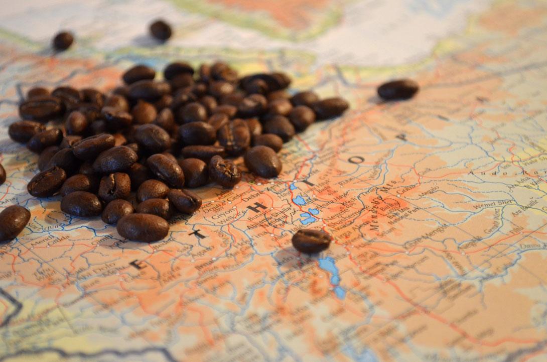 Velký přehled zemí, kde se pěstuje káva